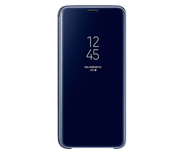 SAMSUNG CLEAR VIEW STANDING AZUL GALAXY S9 FUNDA CON TAPA