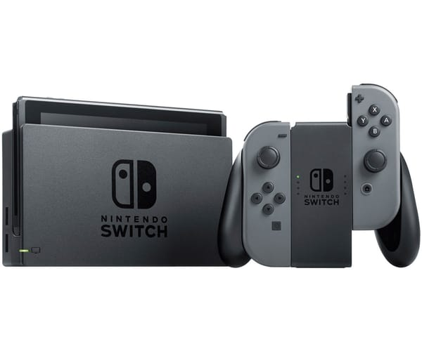 NINTENDO SWITCH GRIS CONSOLA 6.2'' 32GB TRANSMISIÓN TV WIFI BLUETOOTH CONTROLES JOY-CON