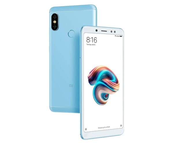 XIAOMI REDMI NOTE 5 AZUL 4G DUAL SIM 5.99'' IPS FHD+/8CORE/32GB/3GB RAM/12MP+5MP/13MP