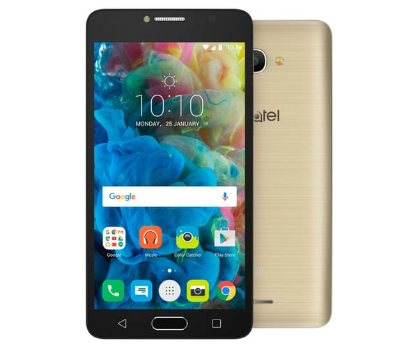 ALCATEL POP 4S ORO METÁLICO MÓVIL 4G DUAL SIM 5.5'' IPS FHD/8CORE/16GB/2GB RAM/13MP/5MP