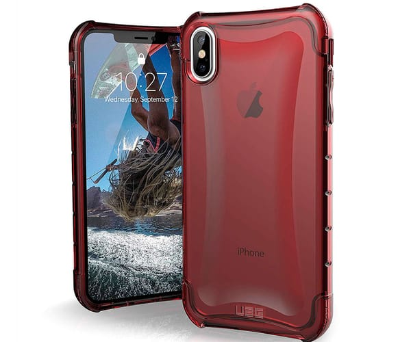 URBAN ARMOR GEAR PLYO CARMÍN CARCASA RESISTENTE APPLE IPHONE XS MAX