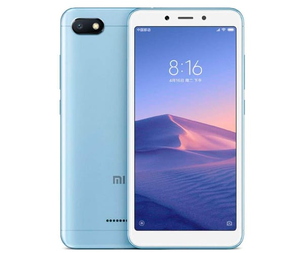 XIAOMI REDMI 6A AZUL MÓVIL 4G DUAL SIM 5.45'' IPS HD+/4CORE/16GB/2GB RAM/13MP/5MP