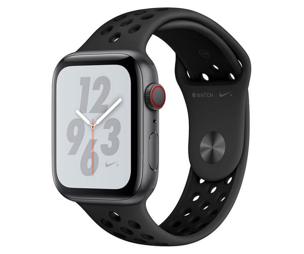 APPLE WATCH SERIES 4 CELL NIKE+ GRIS ESPACIAL CON CORREA SPORT ANTRACITA/NEGRO RELOJ 44MM SMARTWATCH 16GB WIFI BLUETOOTH GPS PANTALLA OLED