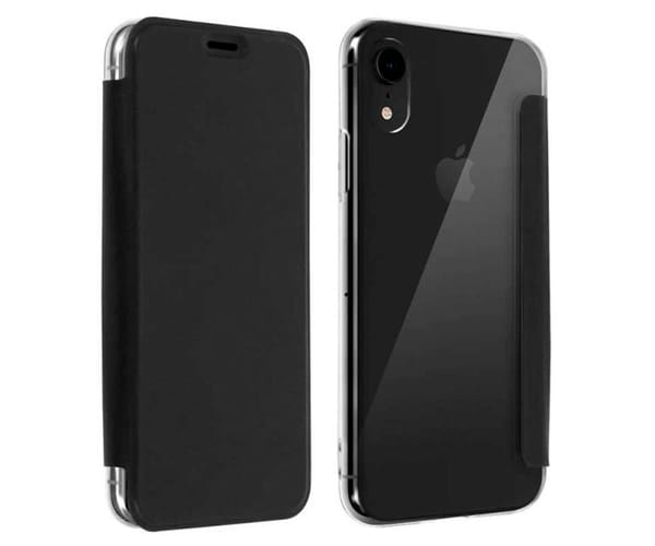 AKASHI FUNDA FOLIO TRANSPARENTE NEGRO APPLE IPHONE XR
