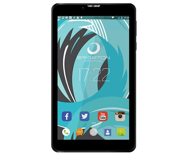 BRIGMTON BTPC-PH6 7QUAD NEGRO TABLET 3G DUAL SIM 7'' IPS HD/4CORE/8GB/1GB RAM/2MP/0.3MP