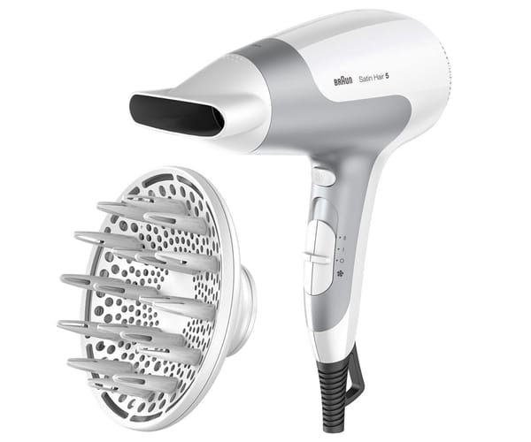BRAUN HD585 BLANCO SECADOR DE PELO 2500W SATIN HAIR 5 POWER PERFECTION IÓNICO ULTRAPOTENTE LIGERO CON DIFUSOR