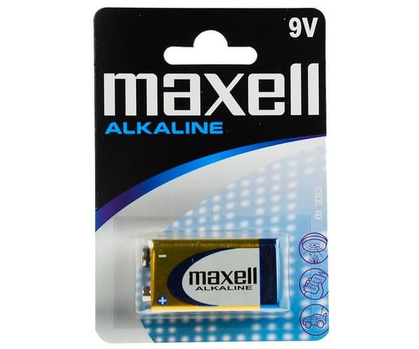 MAXELL PILA ALCALINA LR09 6LF22 9V BLISTER DE 1 UNIDAD