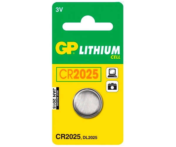 GP PILA LITIO CR2025 3V BLISTER DE 1 UNIDAD