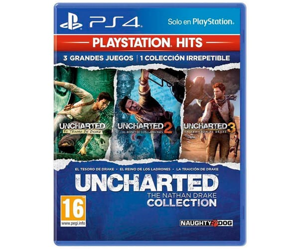 SONY JUEGO PS4 UNCHARTED: THE NATHAN DRAKE COLLECTION HITS CON BLURAY DE REGALO