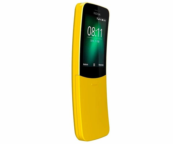 NOKIA 8110 AMARILLO MÓVIL 4G DUAL SIM 2.4'' CURVA DUALCORE/4GB/512MB/2MP BLUETOOTH WIFI RADIO FM
