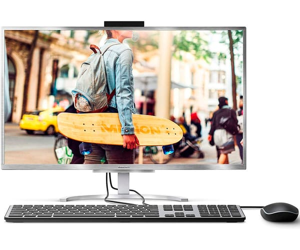 MEDION E23401 PLATA PC ALL-IN-ONE 23.8'' LCD IPS FHD i3-7020U/SSD128GB/8GB RAM/W10 HOME