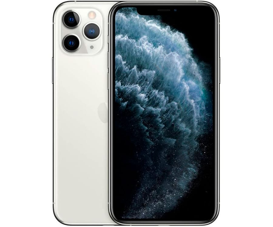 APPLE IPHONE 11 PRO MAX PLATA MÓVIL DUAL SIM 4G 6.5'' SUPER RETINA XDR CPU A13/512GB/4GB RAM/12+12+12MP/12MP