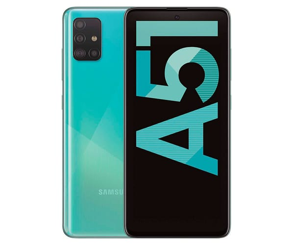 SAMSUNG GALAXY A51 AZUL MÓVIL 4G DUAL SIM 6.5'' SUPER AMOLED FHD+/8CORE/128GB/4GB RAM/48+12+5+5MP/32MP