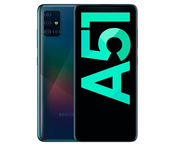 SAMSUNG GALAXY A51 NEGRO MÓVIL 4G DUAL SIM 6.5'' SUPER AMOLED FHD+/8CORE/128GB/4GB RAM/48+12+5+5MP/32MP