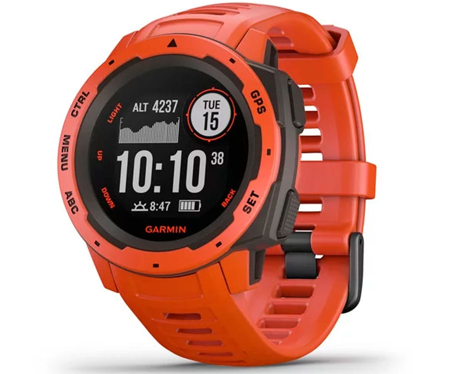 GARMIN INSTINCT FLAME RED 45mm SMARTWATCH RESISTENTE GNSS GPS ANT+ BLUETOOTH