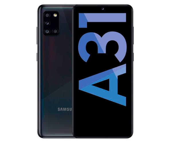 SAMSUNG A31 BLACK MÓVIL 4G DUAL SIM 6.4'' SAMOLED FHD+/8CORE/64GB/4GB RAM/48+8+5+5MP/20MP