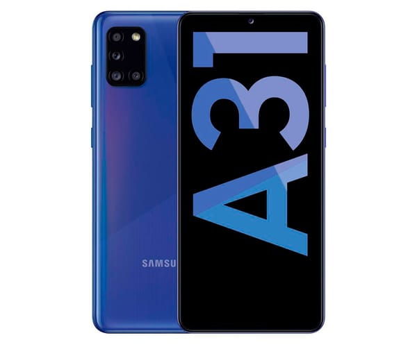 SAMSUNG A31 BLUE MÓVIL 4G DUAL SIM 6.4'' SAMOLED FHD+/8CORE/64GB/4GB RAM/48+8+5+5MP/20MP