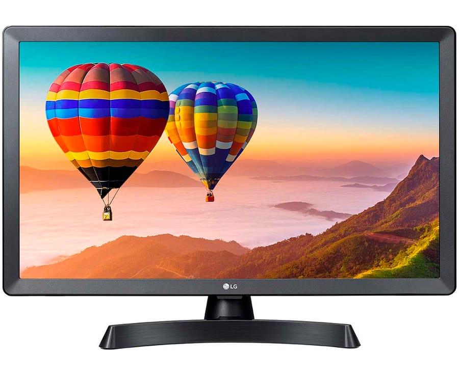 LG 24TN510S-PZ TELEVISOR MONITOR 24'' LCD LED HD SMART TV HDMI USB LAN WIFI BT COMPUESTO COMPONENTES AURICULARES