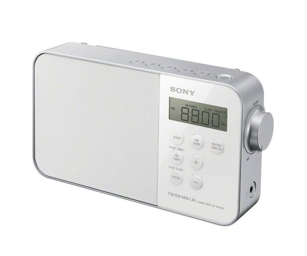 SONY ICFM780SLW RADIODESPERTADOR DIGITAL BLANCO INCLUYE SINTONIZADOR DIGITAL FM,SW,MW,LW
