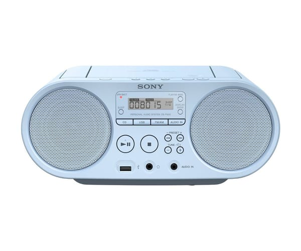 SONY ZSPS50B RADIO CD MP3 USB AZUL
