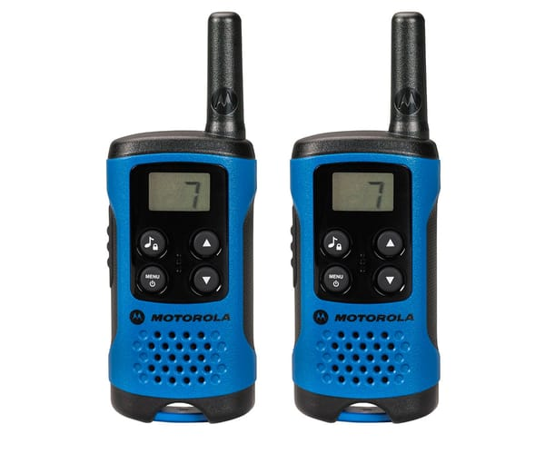 MOTOROLA TLKR T41 WALKIE TALKIES 4KM AZULES