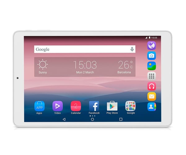 ALCATEL PIXI 3 (10) BLANCO TABLET WIFI 10.1'' IPS HD/4CORE/8GB/1GB RAM/2MP/VGA