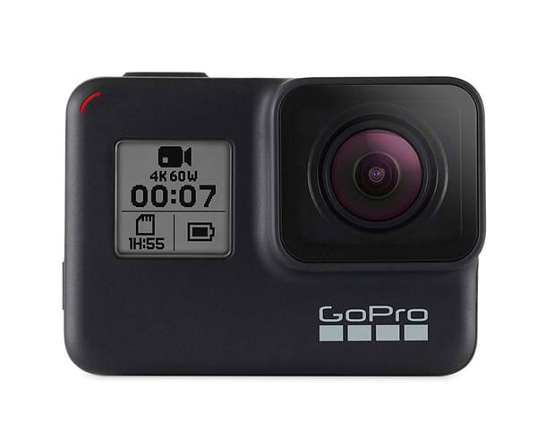 GO PRO HERO7 BLACK CÁMARA DEPORTIVA 12MP SUPERFOTO UHD 4K WIFI CHIP G1 BLUETOOTH GPS PANTALLA TÁCTIL Y DE ESTADO CONTROL POR VOZ