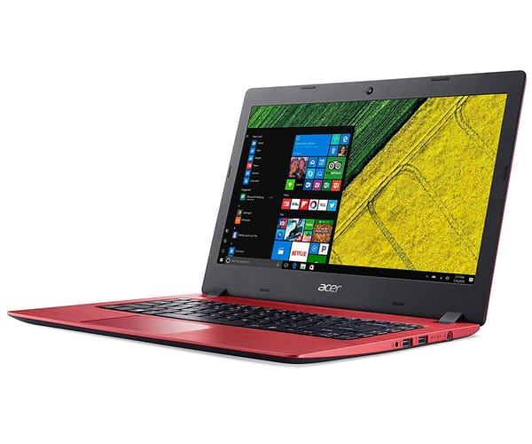 ACER ASPIRE 1 ROJO PORTÁTIL 14'' LCD LED HD READY/N3350 1.10GHz/eMMC 32GB/2GB RAM/W10 S