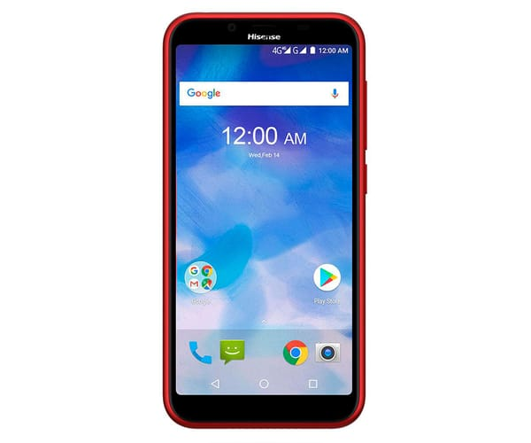 HISENSE F17 PRO ROJO MÓVIL 4G DUAL SIM 5.45'' IPS HD+/4CORE/16GB/2GB RAM/13MP/5MP