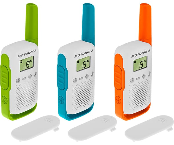 MOTOROLA TALKABOUT T42 TRIPLE PACK WALKIE TALKIES 4KM 16 CANALES PANTALLA LCD
