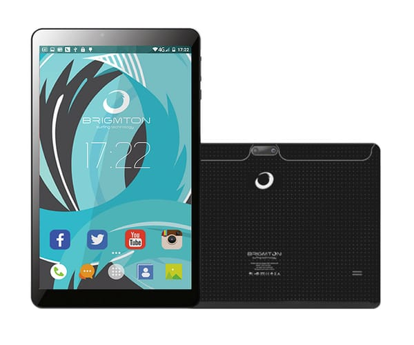 BRIGMTON BTPC-1019QC NEGRO TABLET WIFI 10'' IPS HD/4CORE/16GB/1GB RAM/2MP/0.3MP