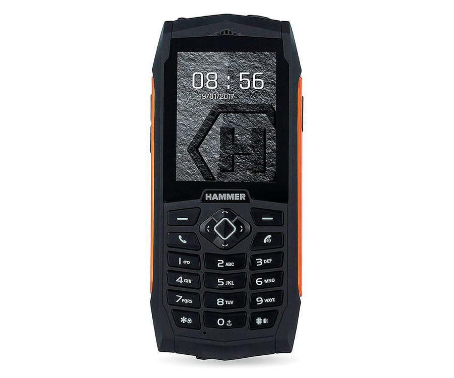 3fb121c5264 MYPHONE HAMMER 3 NEGRO NARANJA MÓVIL RESISTENTE IP68 DUAL SIM 2.4'' TFT  CÁMARA VGA