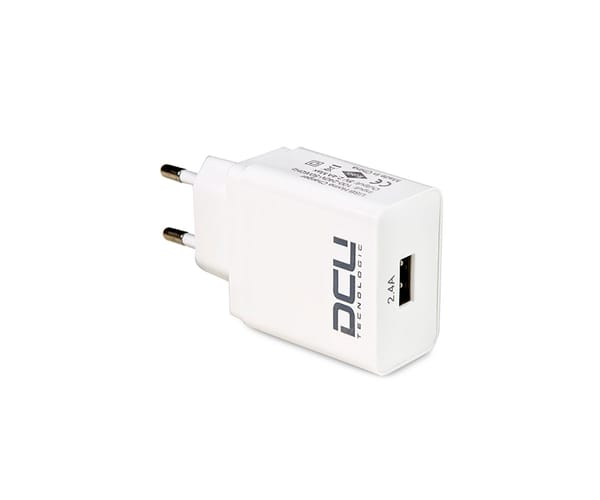 DCU CARGADOR DE PARED BLANCO ENTRADA DE PUERTO USB 5V 2.4A