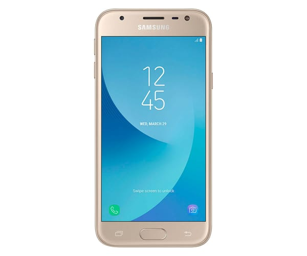 SAMSUNG GALAXY J3 2017 DORADO MÓVIL 4G DUAL SIM 5'' PLS HD/4CORE/16GB/2GB RAM/13MP/5MP