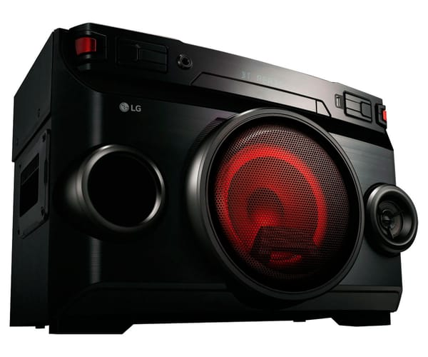LG OM4560 MICROCADENA 220W AUTO DJ CON LUCES LED, USB Y BLUETOOTH