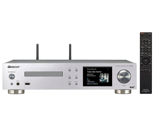 PIONEER NC-50DAB PLATA SISTEMA DE AUDIO TODO EN UNO 50W AMPLIFICADOR CLASE D REPRODUCTOR CD WIFI BLUETOOTH AIRPLAY