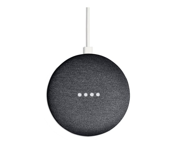 GOOGLE HOME MINI TELA GRIS CARBÓN ALTAVOZ INTELIGENTE CON ASISTENTE GOOGLE ASSISTANT WIFI 5GHz