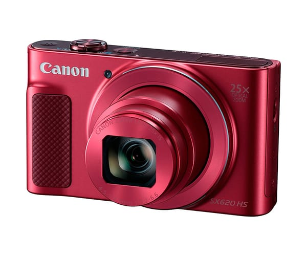 CANON POWERSHOT SX620HS ROJO CÁMARA COMPACTA 20.2MP FULL HD 25x GRAN ANGULAR DIGIC4+ WIFI NFC