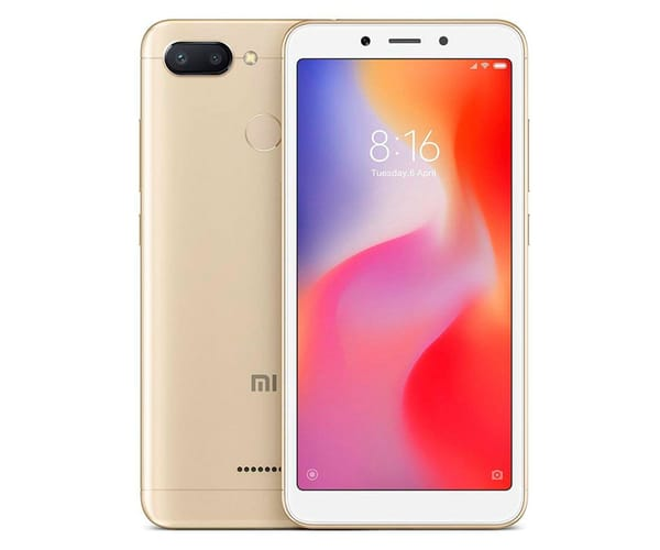 XIAOMI REDMI 6 DORADO MÓVIL 4G DUAL SIM 5.45'' IPS HD+/8CORE/32GB/3GB RAM/12MP+5MP/5MP