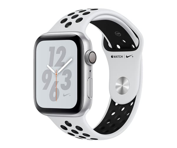 APPLE WATCH SERIES 4 NIKE+ PLATA CON CORREA LOOP SPORT PLATINO PURO NEGRA RELOJ 40MM SMARTWATCH 16GB WIFI BLUETOOTH GPS PANTALLA OLED